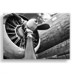 Tablou Styler Canvas Silver Uno Plane, 85 x 113 cm