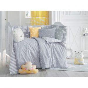 Lenjerie de pat cu cearceaf pentru copii Apolena Carino, 100 x 150 cm, gri