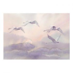 Tapet format mare Bimago Flying Swans, 400 x 280 cm