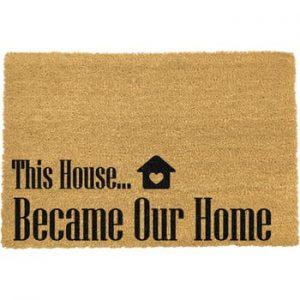 Covoras intrare din fibre de cocos Artsy Doormats Our Home, 40 x 60 cm