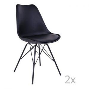 Set 2 scaune House Nordic Oslo, negru