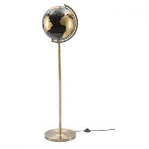 Veioza Mauro Ferretti Da Terra, inaltime130cm, negru-aramiu