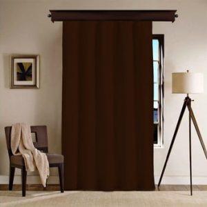 Draperie Curtain Nero, 260 x 140 cm, maro inchis