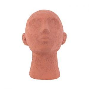Statueta decorativa PT LIVING Face Art, inaltime 22,8 cm, portocaliu teracota