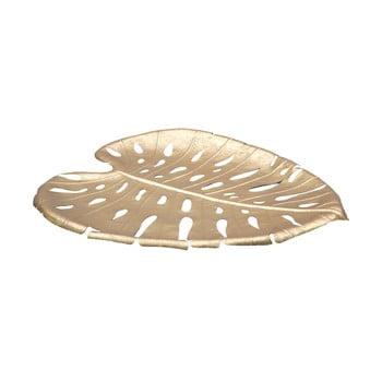 Bol decorativ Mauro Ferretti Monstera Leaf, 42,5x47,5cm, auriu