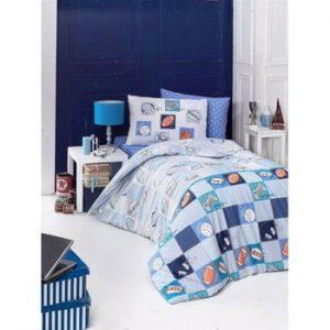 Lenjerie de pat cu cearşaf şi feţe de perna Play, 160 x 220 cm