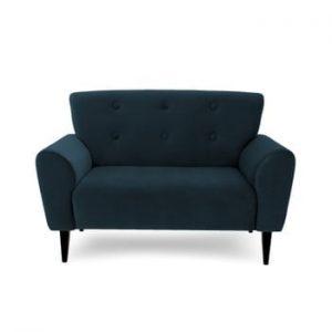 Canapea cu 2 locuri Vivonita Kiara, albastru inchis
