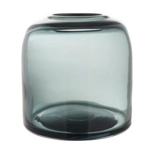 Vaza din sticla A Simple Mess Hat, ⌀ 12 cm, albastru