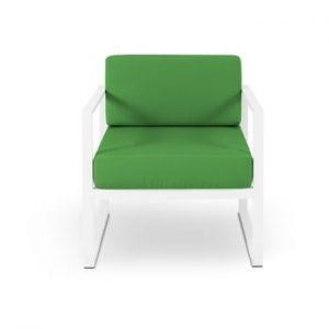 Fotoliu adecvat pentru exterior Calme Jardin Nicea, alb - verde