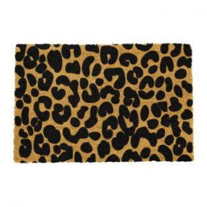 Covoras intrare din fibre de cocos Artsy Doormats Leopard, 40 x 60 cm, negru