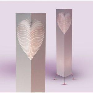 Lampa decorativa MooDoo Design Heart, inaltime 110 cm