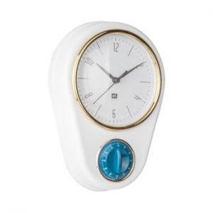 Ceas si cronometru pentru bucatarie PT LIVING, alb
