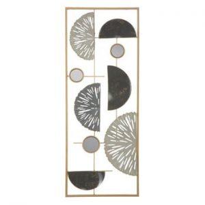 Decoratiune metalica pentru perete Mauro Ferretti Geometric, 28,5x74cm