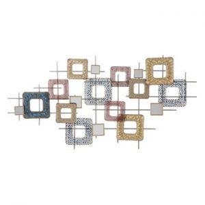 Decoratiune metalica pentru perete Mauro Ferretti Cube, 134,5x71cm