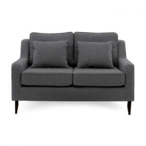 Canapea cu 2 locuri Vivonita Bond, gri inchis
