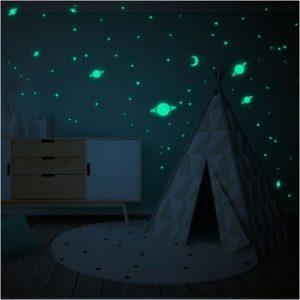 Set autocolante fosforescente de perete Ambiance Milky Way