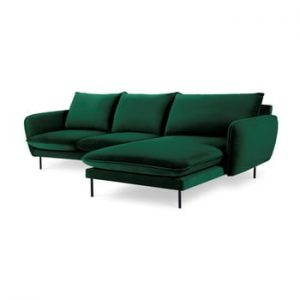 Coltar cu sezlong pe partea dreapta Cosmopolitan Design Vienna, verde