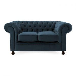 Canapea cu 2 locuri Vivonita Chesterfield, bleumarin