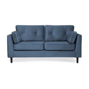 Canapea cu 3 locuri Vivonita Portobello, albastru marin