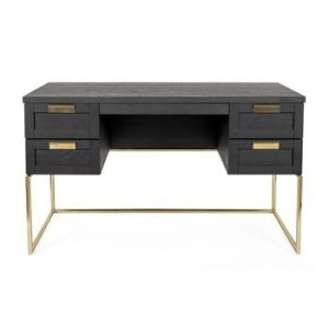 Birou Woodman Pimlico Desk, gri inchis