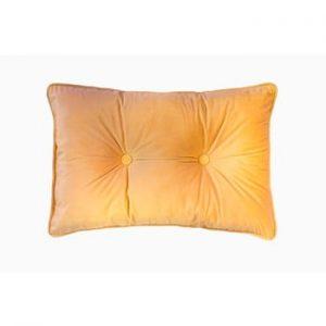 Perna Tiseco Home Studio Velvet Button, 40x60cm, galben inchis