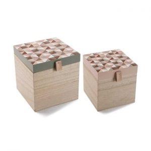 Set 2 cutii depozitare VERSA