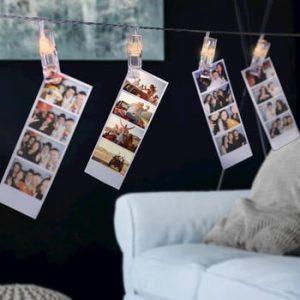 Set clesti decorativi cu LED pentru fotografii DecoKing, 60 buc.