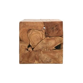 Masuta din lemn de tec HSM collection Cube, 40 x 40 cm
