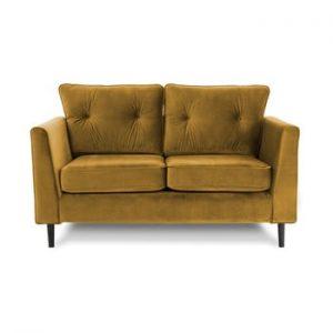 Canapea cu doua locuri VIVONITA Portobello, galben