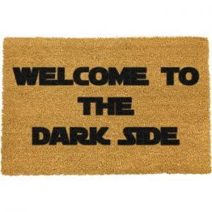 Covoras intrare din fibre de cocos Artsy Doormats Welcome to the Darkside, 40 x 60 cm