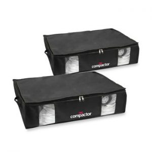 Set 2 cutii de depozitare sub pat Compactor Underbed Vacuum, negru