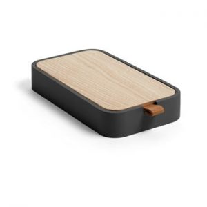 Cutie pentru depozitare din lemn de frasin La Forma Mackie, negru