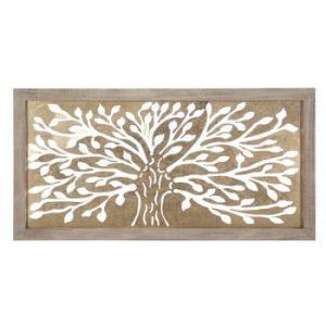 Decoratiune pentru perete Mauro Ferretti Tree, 100x49,5cm, auriu