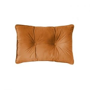 Perna Tiseco Home Studio Velvet Button, 40x60cm, portocaliu