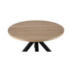 Masa rotunda cu picioare negre Canett Maison, ø 120 cm