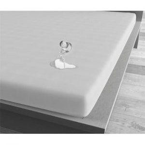 Cearsaf impermeabil Sleeptime, 80 x 200 cm, alb