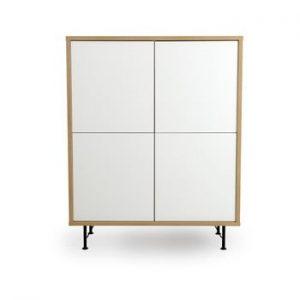Dulap Tenzo Flow, 111 x 137 cm, alb