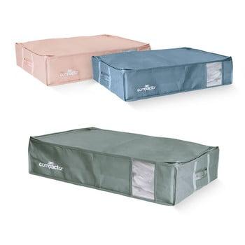 Set 3 cutii de depozitare sub pat Compactor Color Edition Large