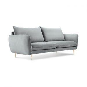 Canapea cu tapiterie din catifea Cosmopolitan Design Florence, gri deschis