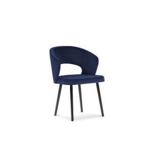 Scaun cu invelis de catifea Windsor & Co Sofas Elpis, albastru
