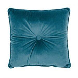 Perna Tiseco Home Studio Velvet Button, 45x45cm, turcoaz