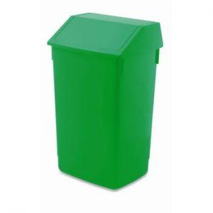 Cos de gunoi cu capac pe balamale Addis, 41 x 33,5 x 68 cm, verde