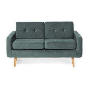 Canapea cu 2 locuri Vivonita Ina Trend, albastru - gri