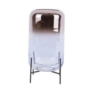 Vaza din sticla PT LIVING Silver Fade, inaltime 29 cm