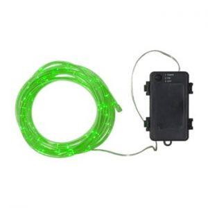Sirag luminos LED pentru exterior Best Season Tuby, 50 becuri, verde