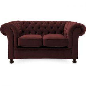 Canapea cu 2 locuri Vivonita Chesterfield, rosu bordo