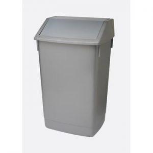Cos de gunoi cu capac pe balamale Addis, 41 x 33,5 x 68 cm, gri