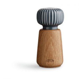 Rasnita din lemn pentru sare/piper Kähler Design Hammershoi, antracit