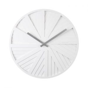 Ceas de perete Karlsson Slides, ø 40 cm, alb