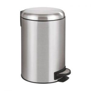 Cos de gunoi cu pedala Wenko Leman, 12 l, argintiu
